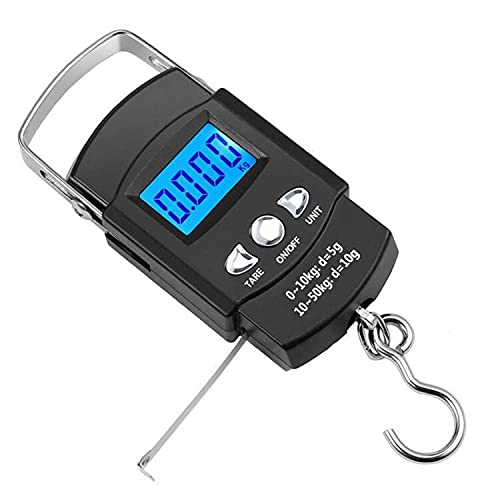 Digital Fish Scale Fishing Weights Scale, Hanging Scale Digital Weight Backlight LCD Display 110lb/50kg Electronic Balance Digital Fishing Postal...