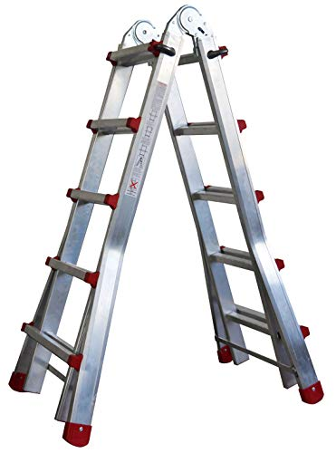 Homelux 825029 multifunctionele telescopische ladder 2 x 8 treden