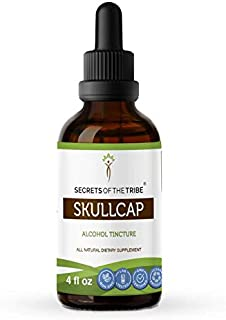 Secrets Of The Tribe Skullcap Alcohol Tincture (Liquid Drops) 693 mg Organic Skullcap (Scutellaria lateriflora) Dried Herb...