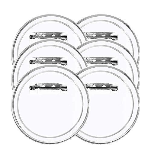 MEESOGA Buttons Selber Machen - 30 Pack 60mm Buttons Transparent DIY Ansteckbuttons ohne Buttonmaschine mit Sicherheitsnadel für Foto Bild Kleidung