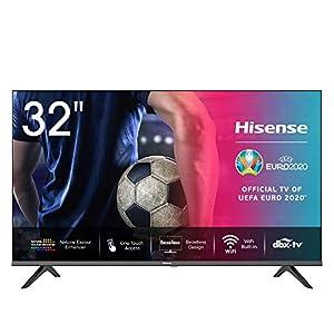 Hisense HD TV 2020 32AE5500F - Smart TV Resolución HD, Natural Color Enhancer, Dolby Audio, Vidaa U 2.5, HDMI, USB, Salida auriculares