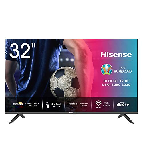 Hisense 32AE5500F - Smart TV Resolución HD, Natural Color Enhancer, Dolby Audio, Vidaa U 2.5, HDMI, USB, Salida auriculares