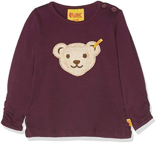 Steiff Steiff Baby-Mädchen T-Shirt 1/1 Arm Langarmshirt, Violett (Pickled Beet Purple 7044), 68
