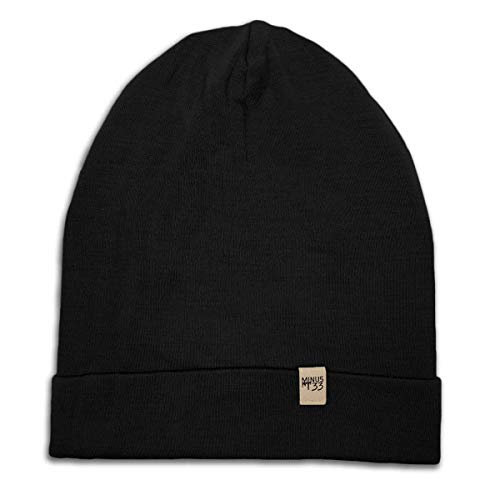 Minus33 Merino Wool Ridge Cuff Wool Beanie Black One Size