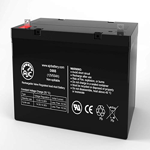 Review Pride Mobility Jazzy 1121 12V 55Ah Wheelchair Battery - This is an AJC Brand Replacement