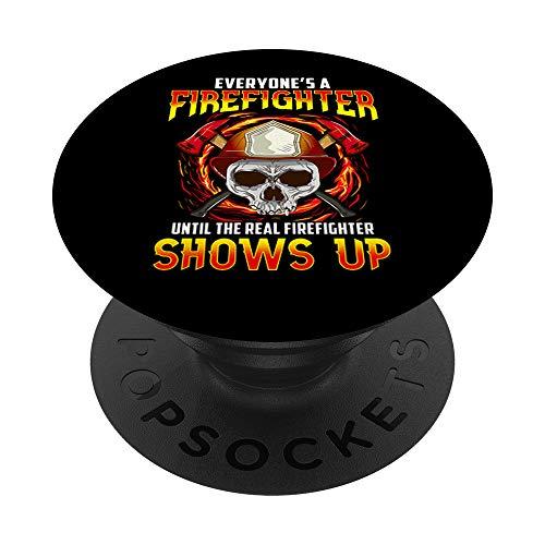 Bomberos divertidos Todos es un bombero PopSockets PopGrip Intercambiable