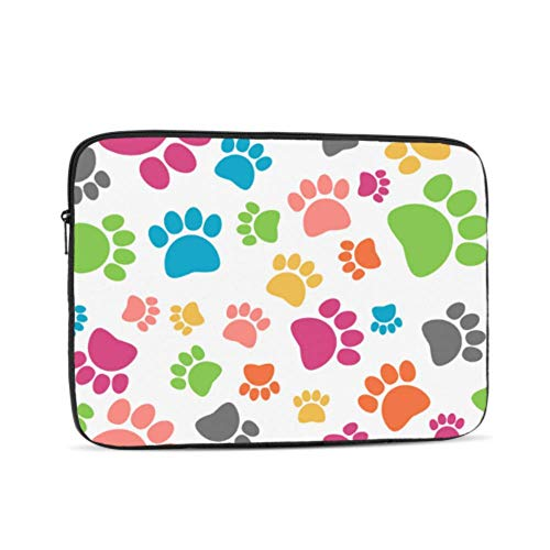 Mac Computer Case Cat Paw Lovely Pet Run Jump Footprint Air Case Multi-Color & Size Choices10/12/13/15/17 Inch Computer Tablet Briefcase Carrying Bag