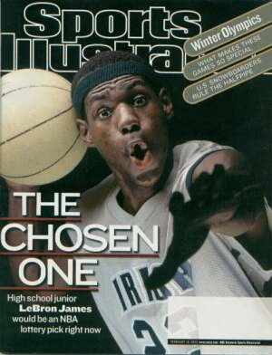 LeBron James'Chosen One' Sports Illustrated Magazine - First cover February 18, 2002