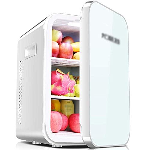FHKBK Mini refrigerador portátil para automóvil de 22L, Mini refrigerador de Doble propósito para Control de Temperatura del hogar y el automóvil, se Puede Usar en Oficina-Blanco A_45 *