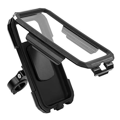 Custodia impermeabile per bicicletta e moto, per navigatore, impermeabile, supporto per cellulare per touchscreen universale M18 Small (tipo di manubrio)