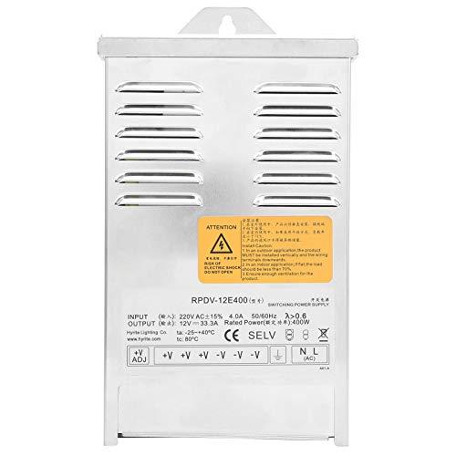 Conductor de la aleación de aluminio LED para la carga actual constante con la protección del cortocircuito para la ingeniería de la publicidad al aire libre (RPDV-12E400 12V)