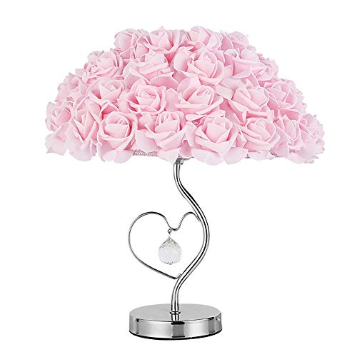 Zzyff Cálida Personalidad Creativa romántica Pantalón Rosa Lámpara de Dormitorio Lámpara de Mesa de Cristal Lámpara de Mesa de Metal Lámpara de Lectura Lámpara de Mesa Lámpara de Mesa Regulable