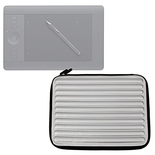 DURAGADGET Funda Gris con Espuma de Memoria Memory Foam para La Tablet Wacom Intuos 'Art' Pen and Touch Graphics Tablet, Medium | Pro CTL671 Graphic Tablet | Intuos Pen & Touch Tamaño M CTH-680S-S