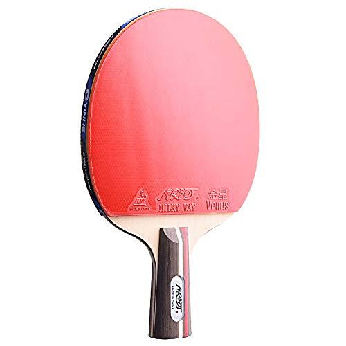Lerten Palas de Ping Pong,Raquetas de Tenis de Mesa con Excelente Control Y Giro Adecuado para NiñOs Adultos Actividades en Interiores Y Exteriores/A/Mango corto