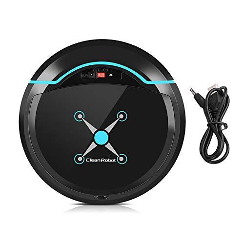 Zerodis Aspirapolvere Robot Intelligente Pulitore USB Aspirapolvere Automatico per la Pulizia della casa(Nero)