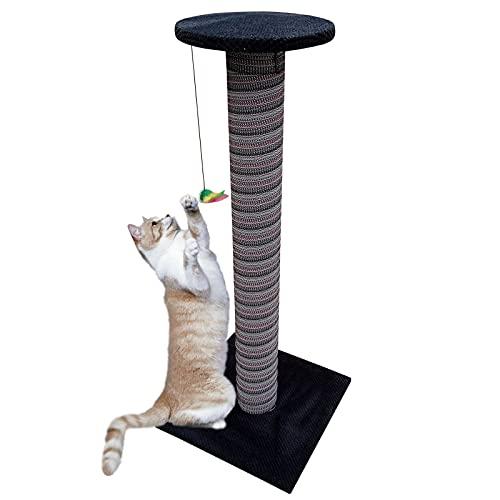 Tiragraffi gigante a forma di gatto gigante, altezza 100 cm, fatto a mano, albero per giocare a gattino, grande centro di arrampicata