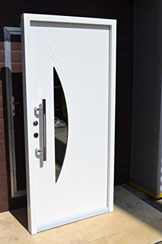 Nr.2, Wohnungstür Haustüren mit Glaseinsatz Moderne Türen Tür Eingangstür Haustür1,00x2,10m
