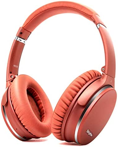 Noise Cancelling Headphones Wireless Bluetooth 5.0, Fast Charge Over-Ear Lightweight Srhythm NC35 Headset with Microphones,Mega Bass 50+ Hours' Playtime