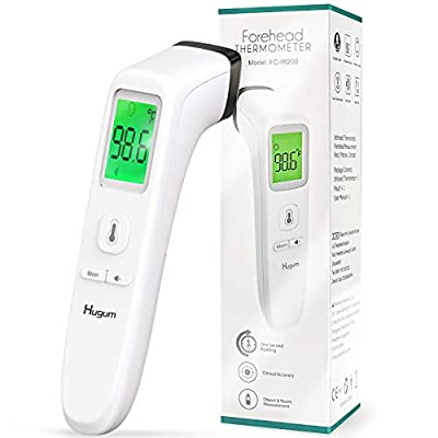 Forehead Thermometer for Adults and Baby, Non-Contact Infrared Digital Thermometer Accurate Instant Reading Medical Thermometer with LCD Display and Fever Alert