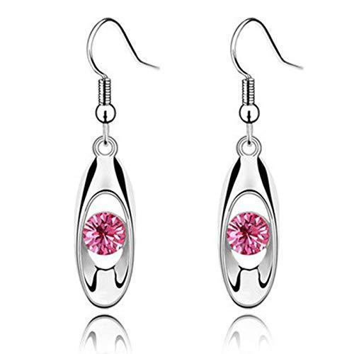 Gaoguan - Pendientes para mujer con cristales y gotas, ovalados