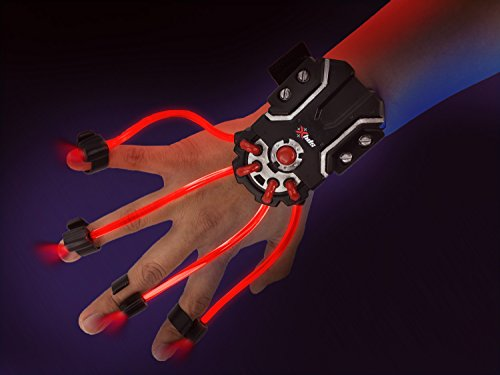 SpyX / Light Hand – LED Light Up Glove Toy for Spy Kids. Cool Flash Light Finger Device to Navigate in The Dark. Elastic LED Spy Toy Gadget for Junior Secret Agent Costumes