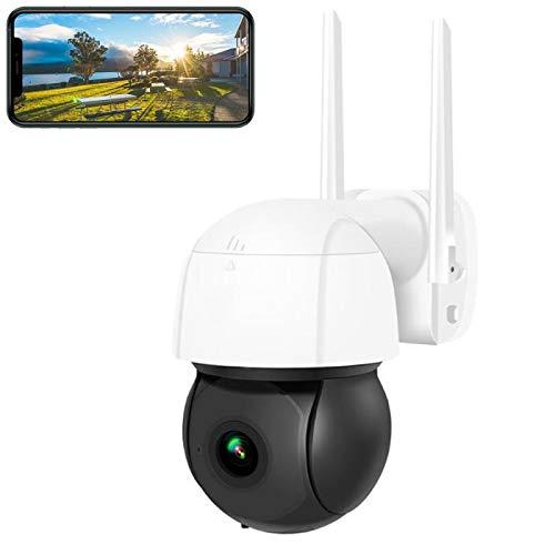 Cámara PTZ IP WiFi para exteriores HD 3 megapíxeles de audio bidireccional monitoreo móvil visión nocturna en color IP66 a prueba de agua, con soporte de tarjeta 64G almacenamiento en la nube
