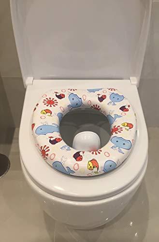 Asiento Reductor acolchado con asa para WC. Para bebés. Mundi Bebé.