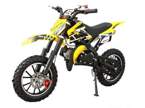SYX MOTO Kids Dirt Bike Holeshot 50cc Gas Power Mini Dirt Bike Pit Bike Fully Automatic Transmission (Yellow, Year 2021)