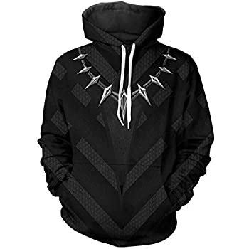 WKDFOREVER 3D Captain Fashion Cosplay Hoodie Jacket Costume  XX-Large,Panther