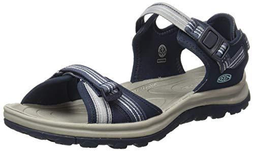 KEEN Women's Terradora 2 Open Toe Sandal-W Sport, Navy/Light Blue, 7.5