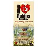 Charola de Comida para pájaros con Texto en inglés I Love Robins, se adhiere a la Ventana