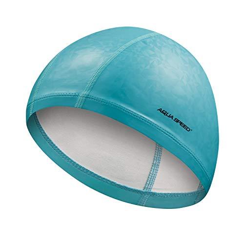 Aqua Speed, cuffia da nuoto resistente agli strappi, per sport e nuoto, triathlon, lycra/PU, flux, colore: fluo/turchese