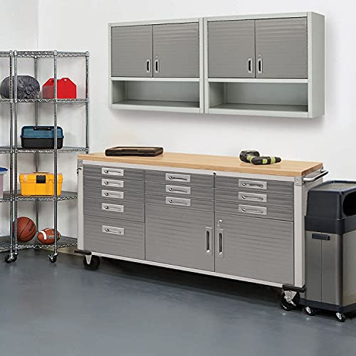 Seville Classics Rolling Cabinet Workbench, 72