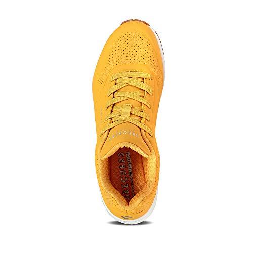 Skechers Uno Stand on Air, Zapatillas Mujer, Amarillo, 38 EU
