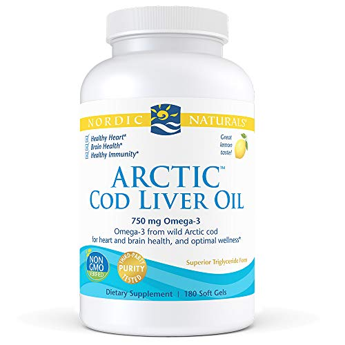 Nordic Naturals - Arctic CLO, Heart and Brain Health, and Optimal Wellness, 180 Soft Gels