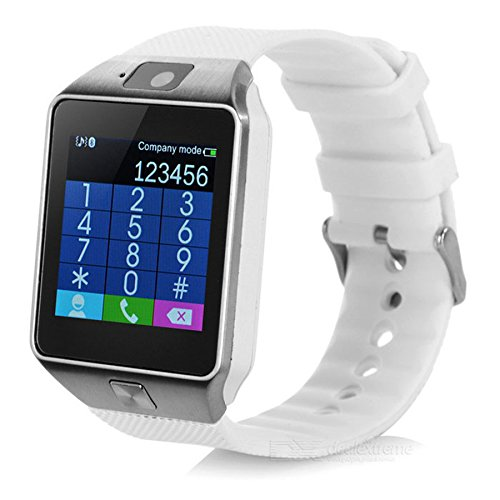 Pandaoo Smart Watch Mobile Phone DZ09 Unlocked Universal GSM Bluetooth 4.0 Music Player Camera Calendar Stopwatch Sync with Android Smartphones(Silver)
