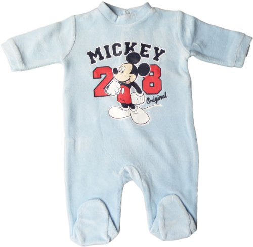 Disney Micky Maus Pyjama/Schlafanzug/Strampler - Mickey Original 28 - Hellblau