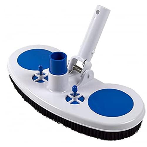 Pool Reinigungsbürste Vakuum-Saugkopf mit Nylon-Borsten Schwenkschlauchanschluss für Entfernungen Debris Purifys Böden 13inch Schwimmbad Zubehör