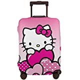 Hello Kitty Anime - Funda protectora para maleta, lavable, diseño de impresión 3D, 4 tamaños para la mayoría de equipaje con cremallera
