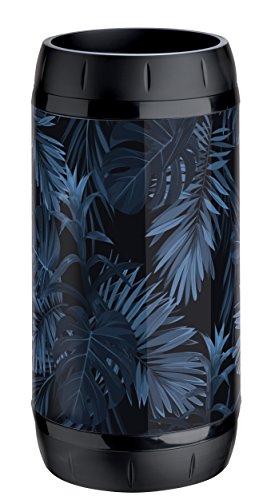 Meliconi Porte-parapluies en tôle lithographiée décor botanique et anneaux anti-rayures en plastique noir, 25 x 25 x 50 cm Fabriqué en Italie.