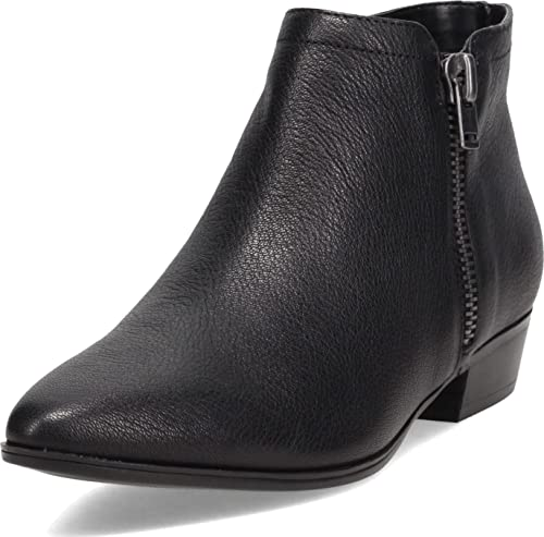 Naturalizer Women's Claire Ankle Boot, Black Leather, 8