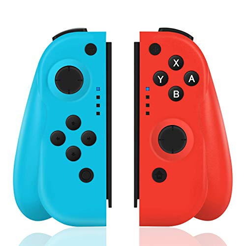 TUTUO Wireless Controller per Nintendo Switch, Bluetooth Joystick Gamepad Sostituzione per Joy con Compatibile con Nintendo Switch PRO - Supporto connessione cablata