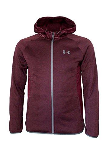 Under Armour Men's Storm Athletic Full Zip Hooded Light Jacket Hoodie (M, Raisin Red)