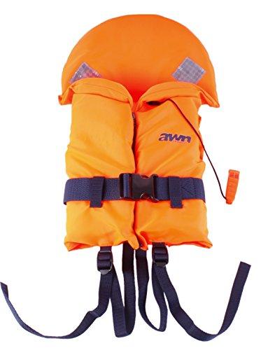 AWN Rettungsweste BRAVISSIMO Schwimmweste Feststoffweste für Kinder und Erwachsene 70-80kg