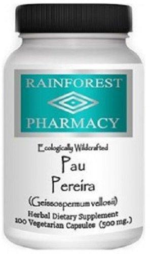Rainforest Pau Pereira 100 Vegetarian Capsules/500 mg