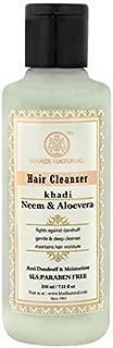 Khadi Neem and Aloevera Herbal Shampoo SLS and Paraben Free, 210ml