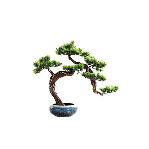 Albero Artificiale Nuovo Cinese Simulazione Pino Bonsai Simulazione Tree All'aperto Giardino Domestico Decorazione della casa Simulazione albero Falso Pianta in vaso Altezza 19,68 pollici Albero Artif