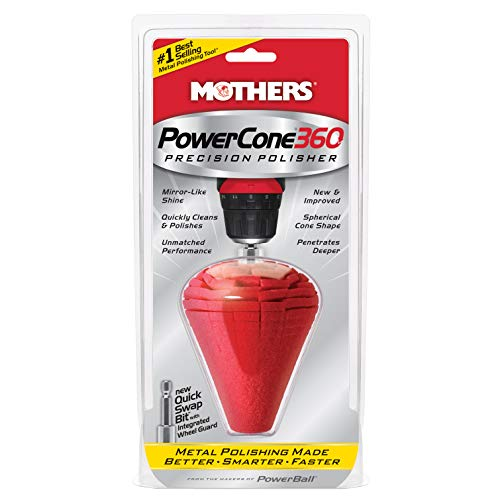 Mothers 05146 PowerCone 360 Metal Polishing Tool, Single Unit