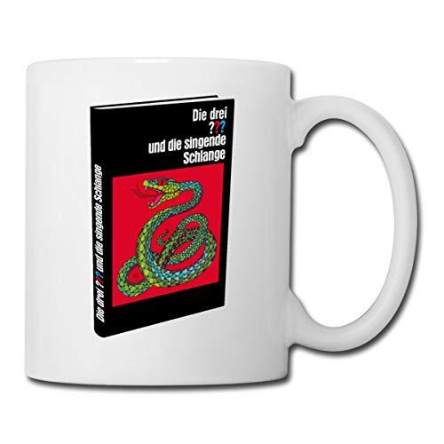 Die Drei Fragezeichen und die singende Schlange Buch Tasse, Weiß