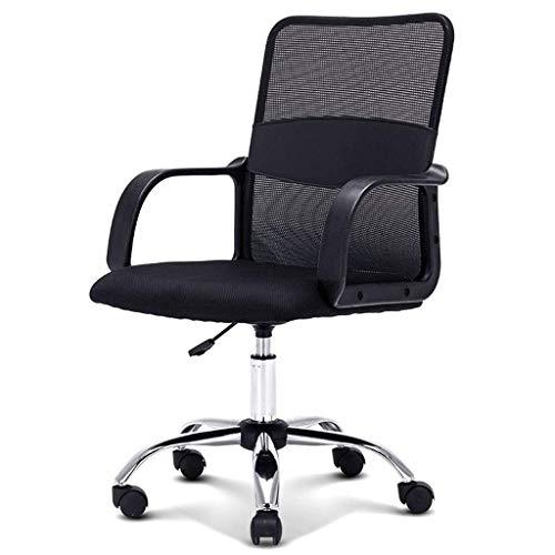 N/Z Éponge Native de Maille Respirante de Chaise de Bureau Ergonomique d'équipement Quotidien 360 degrés; Rotation silencieuse pour Les employés de Bureau (Noir)